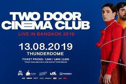 วงดนตรีฝีมือจัดจ้าน Two Door Cinema Club Live in Bangkok 2019